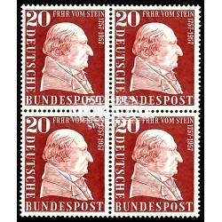 1957 Germany BRD Sc 776 Baron Von Stein  Block 4 Nice  (Scott)