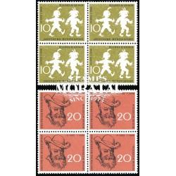 1958 Germany BRD Sc 780/781 Humor designs  Block 4 Nice  (Scott)