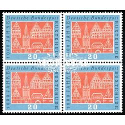 1959 Germany BRD Sc 801 Millennium Buxtehude  Block 4 Nice  (Scott)