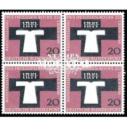 1959 Germany BRD Sc 802 Santa tunic  Block 4 Nice  (Scott)