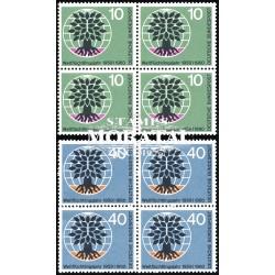 1960 Germany BRD Sc 807/808 Year of the 60 refugee  Block 4 Nice  (Scott)