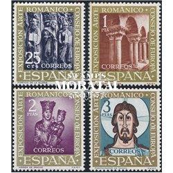 1961 Espagne 1038/1041  Romane Tourisme *MH TB Beau  (Yvert&Tellier)