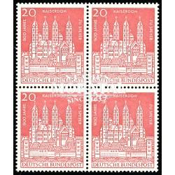 1961 Germany BRD Sc 843 Cathedral Speyer  Block 4 Nice  (Scott)