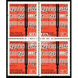 1962 Germany BRD Sc 849 Festival music  Block 4 Nice  (Scott)