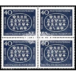 1963 Germany BRD Sc 863 International Postal Conference  Block 4 Nice  (Scott)