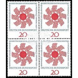 1964 Germany BRD Sc 896 Catholic day ' 64  Block 4 Nice  (Scott)
