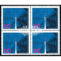 1965 Germany BRD Sc 932 Radio and television  Block 4 Nice  (Scott)