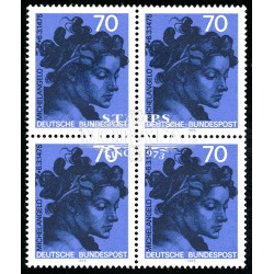1975 Germany BRD Sc 1161 500 years birth Michelangelo  Block 4 Nice  (Scott)