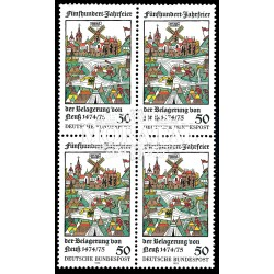 1975 Germany BRD Sc 1169 Siege Neuss  Block 4 Nice  (Scott)