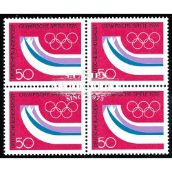 1976 Germany BRD Sc 1204 Olympiad Innsbruck 76  Block 4 Nice  (Scott)