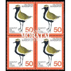1976 Germany BRD Sc 1222 Birds protection  Block 4 Nice  (Scott)