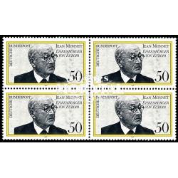1977 Germany BRD Sc 1244 Jean Monnet  Block 4 Nice  (Scott)