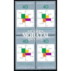 1977 Germany BRD Sc 1246 Carl F. Gauss  Block 4 Nice  (Scott)