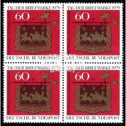 1979 Germany BRD Sc B564 Stamp Day '79  Block 4 Nice  (Scott)