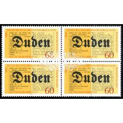 1980 Germany BRD Sc 1325 Dictionaries k. Duden  Block 4 Nice  (Scott)