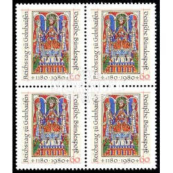 1980 Germany BRD Sc 1327 Frederick I. Barbarossa  Block 4 Nice  (Scott)