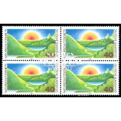 1980 Germany BRD Sc 1331 Protection natural places  Block 4 Nice  (Scott)