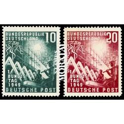 1949 Germany BRD Sc 665/666 Deutschen Bundestag  **MNH Very Nice, Mint Never Hinged?  (Scott)