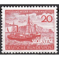 1952 Germany BRD Sc 690 Héligoland  *MH Nice, Mint Hinged  (Scott)