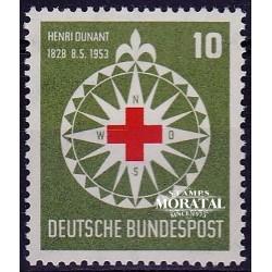 1953 Germany BRD Sc 696 Henri Dunant (Red Cross)  *MH Nice, Mint Hinged  (Scott)