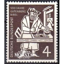 1954 Germany BRD Sc 723 Gutenberg Bible  *MH Nice, Mint Hinged  (Scott)