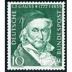 1955 Germany BRD Sc 725 Carl Friedrich Gauss  **MNH Very Nice, Mint Never Hinged?  (Scott)