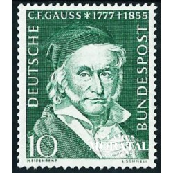 1955 Germany BRD Sc 725 Carl Friedrich Gauss  *MH Nice, Mint Hinged  (Scott)