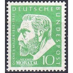 1955 Germany BRD Sc 726 Oskar Von Miller  *MH Nice, Mint Hinged  (Scott)