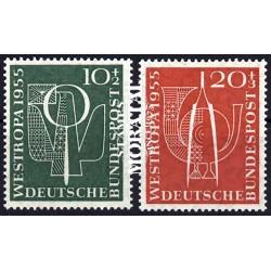 1955 Germany BRD Sc B342/B343 Düsseldorf exhibition  **MNH Very Nice, Mint Never Hinged?  (Scott)