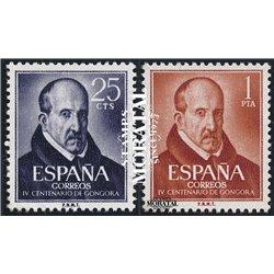 1961 Espagne 1042  Gongora Personnalités *MH TB Beau  (Yvert&Tellier)