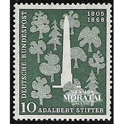 1955 Germany BRD Sc 735 Adalbert Stifter  *MH Nice, Mint Hinged  (Scott)