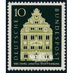 1957 Germany BRD Sc 778 Württemberg Assembly  *MH Nice, Mint Hinged  (Scott)