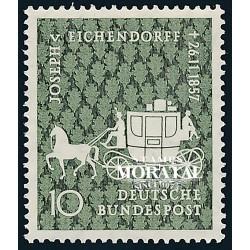 1957 Germany BRD Sc 779 Von Eichendorff  *MH Nice, Mint Hinged  (Scott)