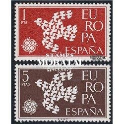 1961 Espagne 1044/1045  L'Europe Europe **MNH TTB Très Beau  (Yvert&Tellier)