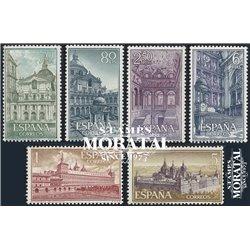 1961 Spanien 1277/1282  Escorial Kloster-Tourismus ** Perfekter Zustand  (Michel)