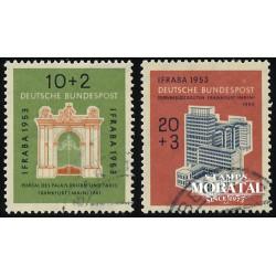 1953 Germany BRD Sc B332/B333 Exhibition International Stamp  (o) Used, Nice  (Scott)