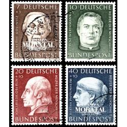 1954 Germany BRD Sc B338/B341 Welfare Organizations  (o) Used, Nice  (Scott)