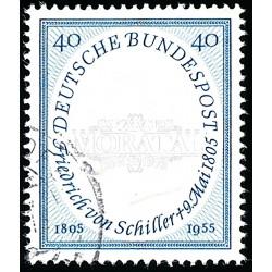 1955 Germany BRD Sc 727 Fiedrich Von Schiller  (o) Used, Nice  (Scott)