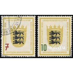 1955 Germany BRD Sc 729/730 Baden-Württemberg  (o) Used, Nice  (Scott)