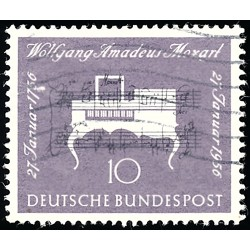1956 Germany BRD Sc 739 W.A. Mozart  (o) Used, Nice  (Scott)
