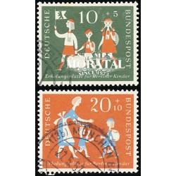 1957 Germany BRD Sc B354/B355 Theodore Heuss  (o) Used, Nice  (Scott)