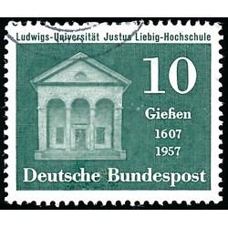 1957 Germany BRD Sc 768 Justus Liebig University  (o) Used, Nice  (Scott)