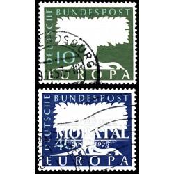 1957 Germany BRD Sc 771/772 Europe '57  (o) Used, Nice  (Scott)