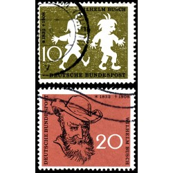 1958 Germany BRD Sc 780/781 Humor designs  (o) Used, Nice  (Scott)