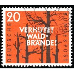 1958 Germany BRD Sc 782 Forest fire  (o) Used, Nice  (Scott)