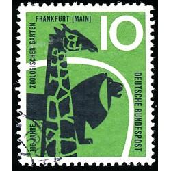 1958 Germany BRD Sc 784 Zoo Frankfurt  (o) Used, Nice  (Scott)
