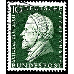 1958 Germany BRD Sc 789 Schulze-Delitzsch  (o) Used, Nice  (Scott)