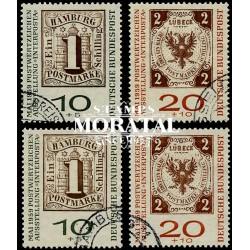 1959 Germany BRD Sc B366a/B367a INTERPOSTA '59  (o) Used, Nice  (Scott)