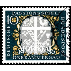 1960 Germany BRD Sc 810 Passion parties  (o) Used, Nice  (Scott)