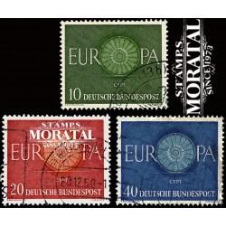 1960 Germany BRD Sc 818/820 Europe '60  (o) Used, Nice  (Scott)